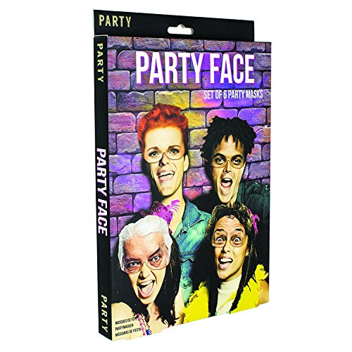 Paladone Funny Party Face Masks (6 Pack) -