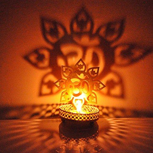 Hashcart Decorative Shadow Om Tea Light Holder For Diwali   D Cor   Gift