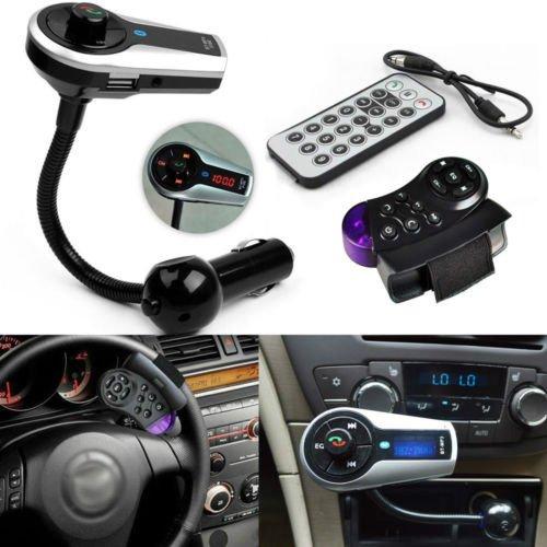 Bluetooth Steering Wheel Handsfree FM Transmitter Hands Free