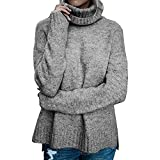 Liraly Tops For Women New Fashion Womens Off The Shoulder Sweater Casual Knitted Loose Long Sleeve Pullover Autumn Shirt (US-6 /CN-M,Gray )
