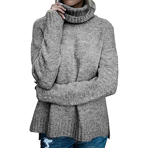 DEATU Sweater for Womens, Ladies Knit Sweater Casual Loose Long Sleeve Pullover (Denim Fold Wallet)