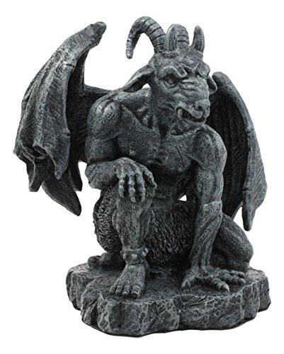Ebros The Winged Guardian Baphomet Sabbatic Goat Gothic Gargoyle Statue Faux Stone Resin Sculpture ()