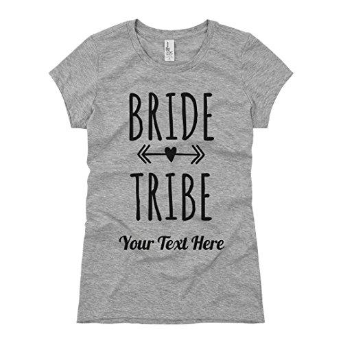Custom Bride Tribe Arrow: Ladies Slim Fit Basic Promo Jersey Tee