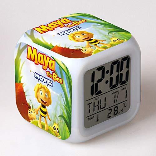 Amazon.com: Maya The Bee Movie LED Alarm Clock Willy Crawley Buzzlina Von Beena Flip Digital Alarm Clocks Watch Night Light Lamp despertador: Home Audio & ...