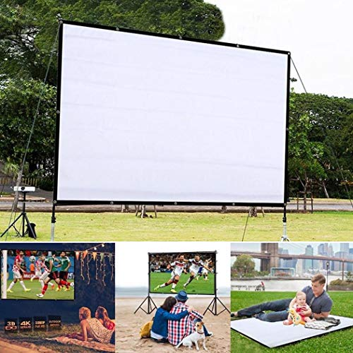 hevare Portable Folding Movie Screen Household Light Resistant Projection Screen Projection Screens from hevare