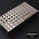 日本製 MADE IN JAPAN ガスライター SAROME サロメ ライター SD1-70 ローズゴールド0.2μ ダイヤモンドヘッド