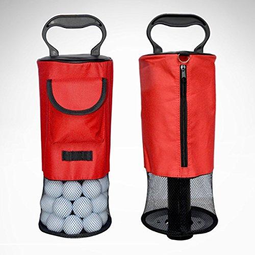 Portable Golf Ball Picker Pick-Ups Retrievers Pocket Storage Bag Scooping Device