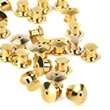 (US) eBoot 30 Pieces Golden Locking Pin Keepers Backs, No Tool Required