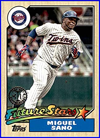 90ff3e6119f 2017 Topps  87 1987 8716 Miguel Sano MINNESOTA TWINS Baseball Card at  Amazon s Sports Collectibles Store