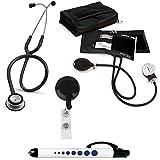 the 3m littmann classic ii se - 3M Littmann Classic Ii Se Stethoscope Prestige Medical Adult Sphygmomanometer With Case Quick Lites Penlight And Retra Black