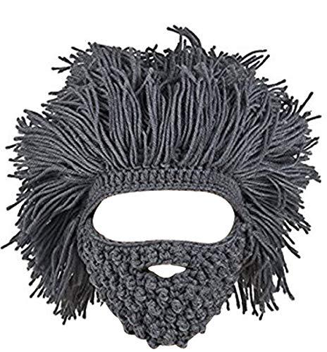 Kafeimali Men's Barbarian Vagabond Beanie Original Foldaway Beard Hats Halloween Caps -