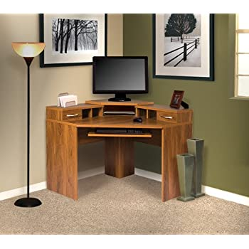 This item OS Home and Office Furniture Corner Desk with Monitor Platform. Amazon com  OS Home and Office Furniture Corner Desk with Monitor