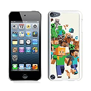DIY Minecraft Game White Case Cover for iPod Touch 5th Generation 062