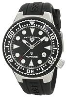 Swiss Legend Women's 11044D-01 Neptune Black Dial Black Silicone Watch by Swiss Legend