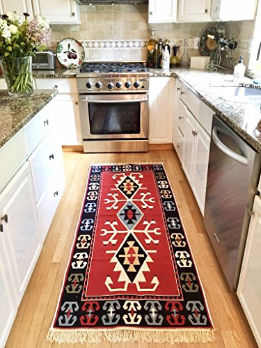 Reversible Love Union Turkish Kilim Rug (2'7