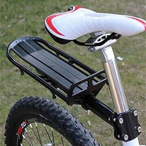 Bazaar Cremallera trasera con barra de tija de sillín de bicicleta ...