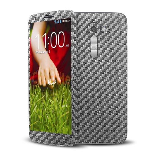 Cruzerlite Graphite Carbon Fiber Skin Case for LG G2 Model VS980 - Retail Packaging
