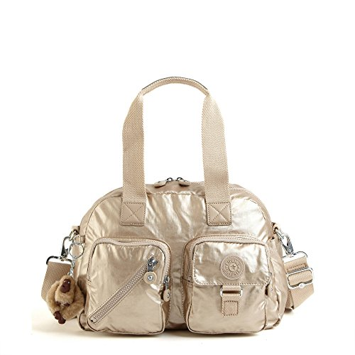 Kipling Women's Defea Metallic Handbag One Size Toasty Gold