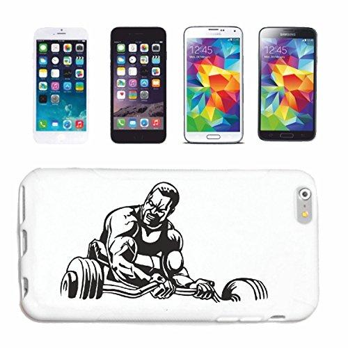 """cas de téléphone iPhone 7+ Plus """"BODYBUILDER AVEC POIDS DE FORMATION DUMBBELL GYMNASE Musculation GYMNASE muskelaufbau SUPPLEMENTS WEIGHTLIFTING BODYBUILDER"""" Hard Case Cover Téléphone Covers Smart Cov"""