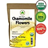 Chamomile Tea 1LB (16Oz) 100% CERTIFIED Organic (USDA seal) Chamomile...