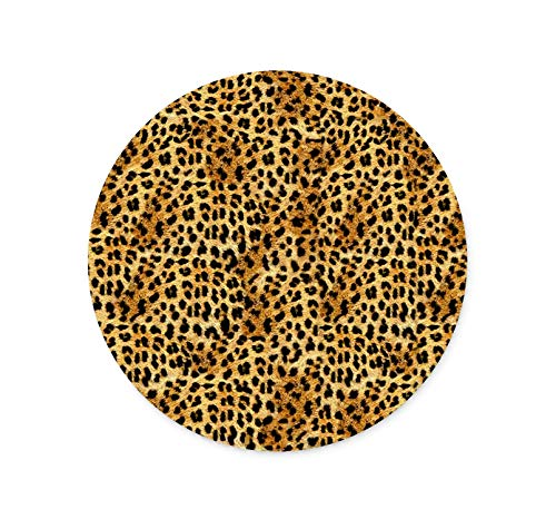Personalized Round Mouse Pad Custom Non-Slip Leopard Mouse Pad Office Computer Accessories Mouse Pad