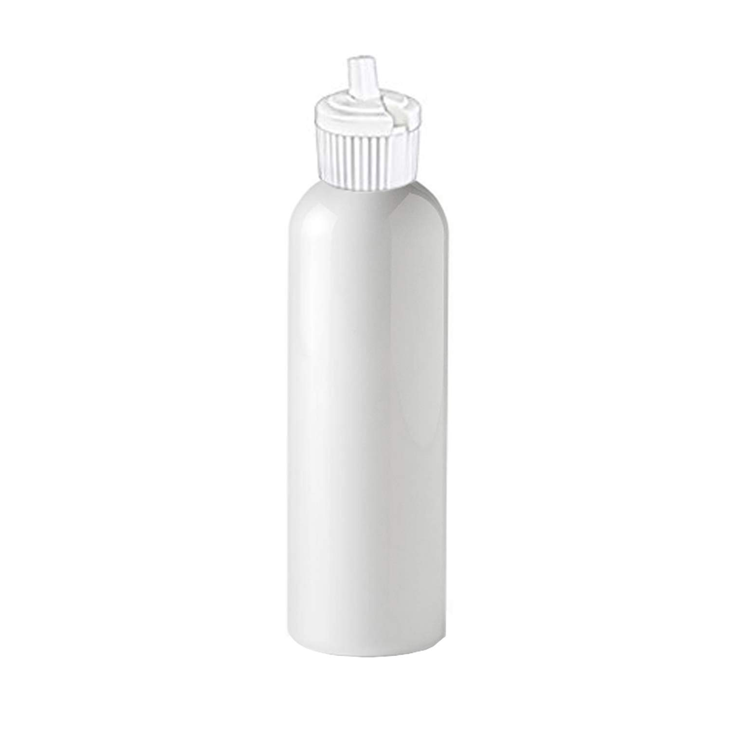 MoYo Natural Labs Bulk Travel Containers HDPE 4 oz Spout Bottle Commercial Grade Turret Top 4 oz Food Safe Mini Squirt Bottle Made in USA (Neck 20-410) (Pack of 50)
