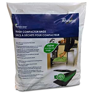 Whirlpool W10351676RP 18-Inch Plastic Compactor Bags, 15-Pack