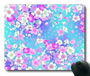 Lilyshouse Sweet Flower Pattern Design 009 Rectangle Mouse Pad