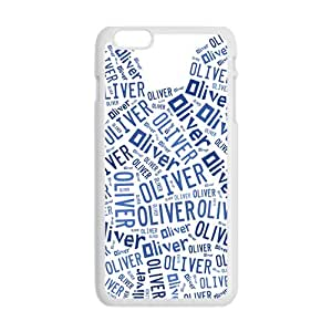 Oliver Lovely blue bear head Cell Phone Case for Iphone 6 Plus