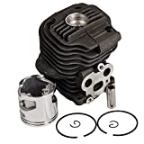 HIFROM(TM Aftermarket Cylinder and Piston Ring Pin Circlips Rebuild Kit 51mm For Husqvarna K750 K760 CUTOFF SAW NEW