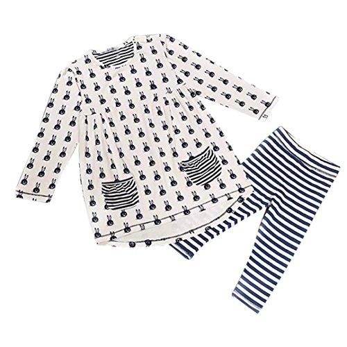 De Bébé Amlaiworld Robe Leggings Lapin Filles Chemise Vêtements Mode Ensemble Blanc w66qU