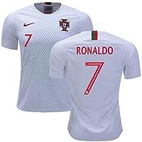 Men's Portugal 2018 World Cup Away Soccer Jersey #7 Cristiano Ronaldo