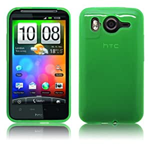 Cbus Wireless Transparent Green Matte TPU Flexiable Rubber Case / Skin / Cover for HTC Inspire 4G