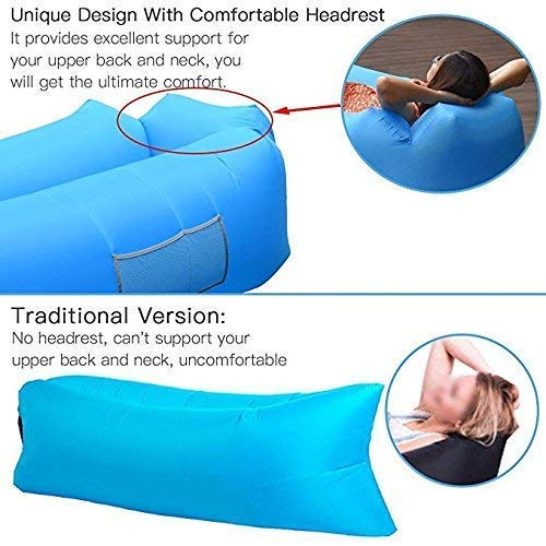 TBAO 2017 New Outdoor Air Sofa Fast Inflatable Laybag Hangout Lounger Beach Air Bed Folding Sleeping Bag Lazy Sofa Lazy Air Sofa