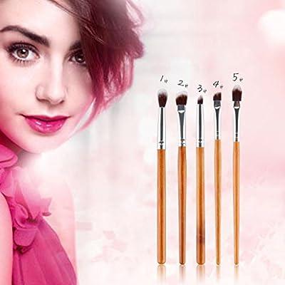 B Baosity Set de Brochas de Maquillaje Muy Suave 5 Brochas Estuche de Maquillaje de Viaje Belleza: Amazon.es: Belleza