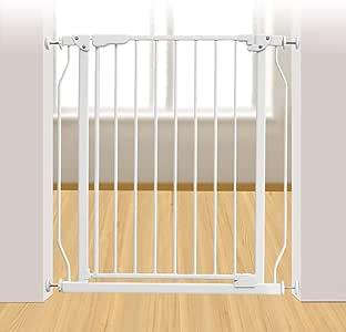 Puertas de bebé Puertas metálicas para escaleras de bebé con Puerta de Cierre automático, Puertas Protectoras de Perro para Mascotas con Puerta de Paso, Ideal para pasillos, 73-78cm de Ancho: Amazon.es: Hogar