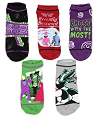 This pack of 100% Officially Licensed Beetlejuice ankle socks, features our favorite scenes from the film like Beetlejuice and Lydia getting married, Beetlejuice flashing sign, the handbook for the recent deceased cover, and more. These are a...