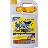 Spray & Forget House & Deck Cleaner with Nestable Trigger, 1 Gallon Bottle, 1 Count, Outdoor Cleaner, Mold Remover, Mildew Remover