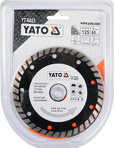 TURBO,125 MM Yato YT-6023 DIAMANTKLINGE