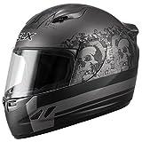 GLX Lightweight Full Face Street Bike Motorcycle Helmet (Ghost, Medium) (DOT)