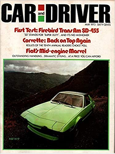 Car And Driver Magazine May 1973 William Jeanes Don Sherman