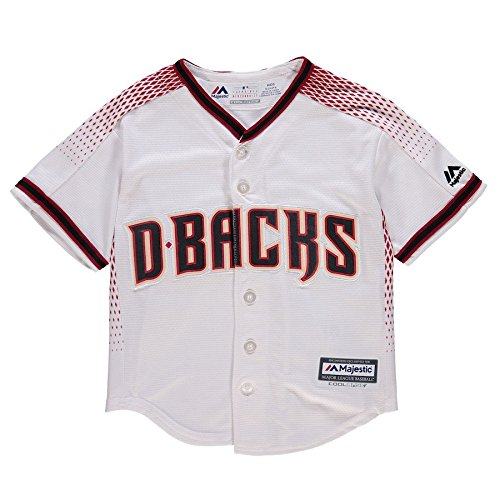 Outerstuff Zack Greinke Arizona Diamondbacks #21 Toddler Cool Base Jersey White (3T)