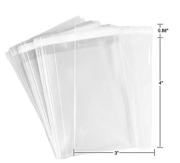 Amazon.com: 100 bolsas transparentes de celofán planas para ...