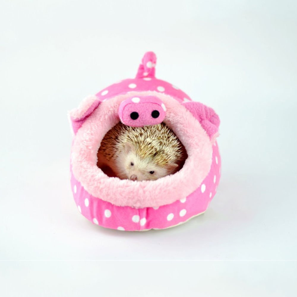 Crocodile, S Winterworm Soft Plush Pet Cave Pet Bed with Removable Pad for Hamster Hedgehog Guinea Pig Baby Cat