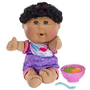cabbage patch kids african american girl fun to feed babies doll black hair brown. Black Bedroom Furniture Sets. Home Design Ideas