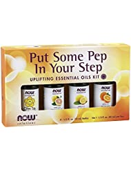 NOW Put Some Pep in Your Step Uplifting Essential Oil Kit