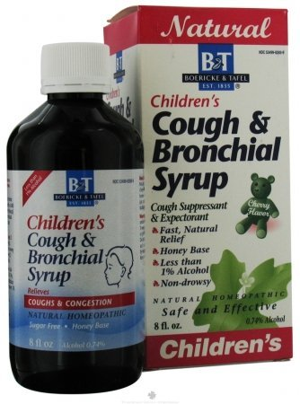 Boericke & Tafel Children's Cough and Bronchial Syrup, Cherry Flavor, 8 Ounce
