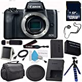 6Ave Canon EOS M6 Mirrorless Digital Camera (Black) 1724C001 (International Model) + LP-E17 Replacement Lithium Ion Battery + 128GB SDXC Class 10 Memory Card + SD Card USB Reader Bundle