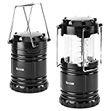 30 LED Lantern - iKross Collapsible Outdoor Camping Lantern with Bright 60 Lumens output - Black