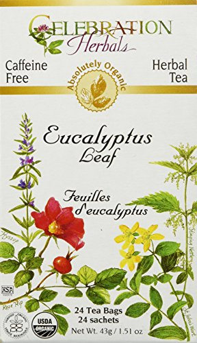 CELEBRATION HERBALS Eucalyptus Leaf Organic 24 Bag, 0.02 Pound